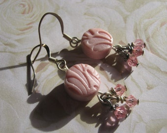 Pretty in Pink Polymer Clay Earrings