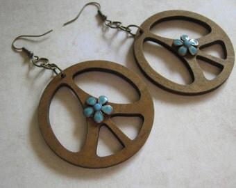 Peace Love Happpiness Dangle Earrings