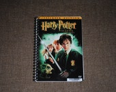 Harry Potter and The Chamber of Secrets Upcycled Recycled DVD Movie Cover Bound Notebook / Sketchbook