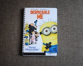 DESPICABLE ME Upcycled / Recycled DVD Movie Cover Bound Notebook / Sketchbook