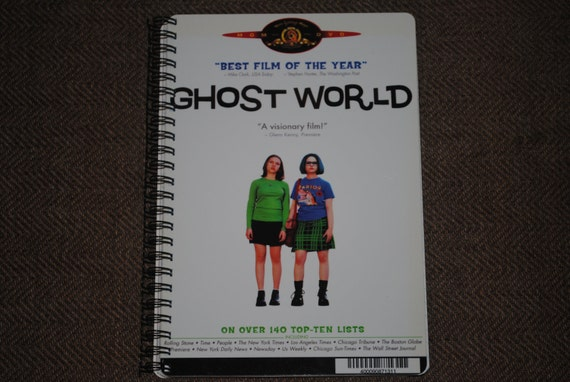 GHOST WORLD Upcycled / Recycled DVD Movie Cover Bound Notebook / Sketchbook