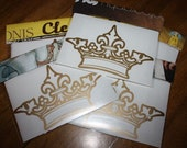 Gold Vinyl Graphic Crown  Decal- Car, Wall or Window