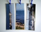 Boats. Set of 3 Laminated Photo Bookmarks. Great Gift Idea.