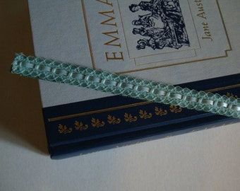 Bookmark Ribbon N Lace Book Mark - Mint Green - Bibliophile Bookworm Reader