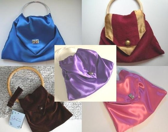 pdf Pattern for ennadoolf Purse Handbag Tote or Clutch - make it in a weekend