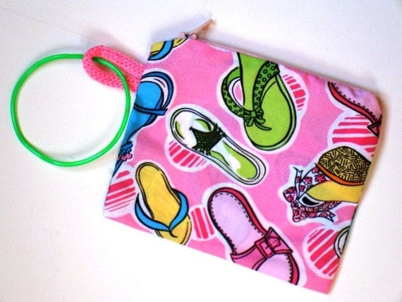 Love of Shoes Wristlet with Zipper closure