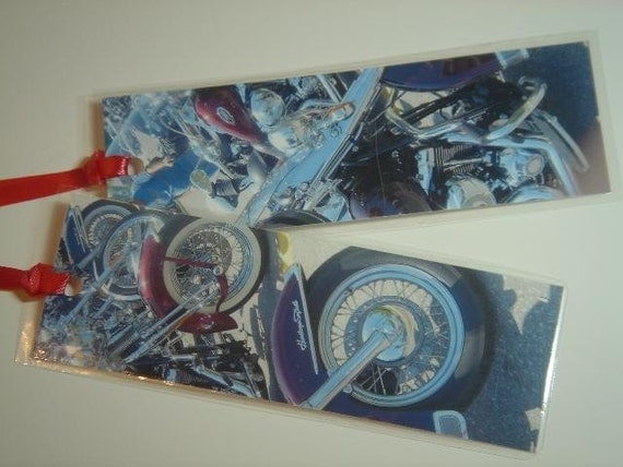Motorcycles.  Set of 2 Laminated Photo Bookmarks. Dreams of Sturgis and Port Dover