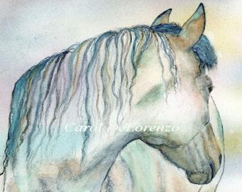 Watercolor Painting, Horse Art, Horse Painting, Horse Watercolor, Equine Art Print Titled A Horse Named Shalimara