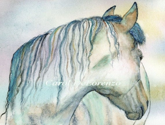 Watercolor Painting 8x10 Horse Art, Horse Painting, Horse Watercolor, Equine Art Print Titled A Horse Named Shalimara