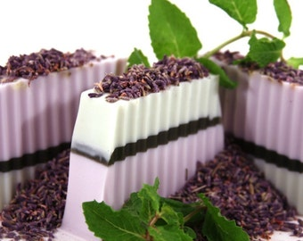 Handmade Shea Butter Soap - Lavender Mint Soap