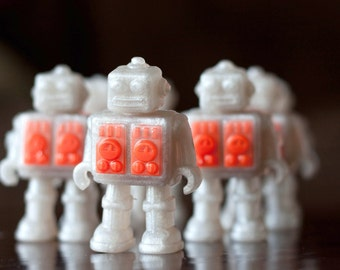 Handmade Glycerin Soap - Robots from Space Soap - Set of 2