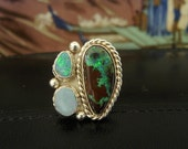 Koroit Boulder Opal and Sterling Silver Ring
