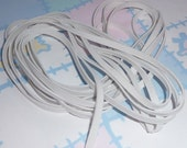 WHITE KNITTED ELASTIC, Polyester 1/4 inch wide, 5 Yards