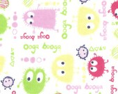 Pastel Ooga Booga, Cotton Interlock Knit Fabric, by the yard