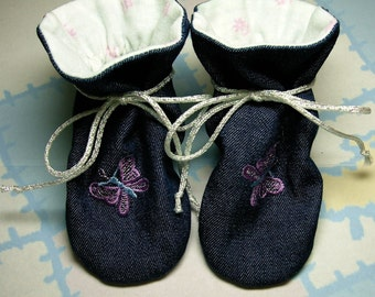 "Terra Verde, ""TV"" Baby Bootie Bootee PDF Sewing Pattern, Includes 5 sizes Preemie to 12 months, Instant Download"