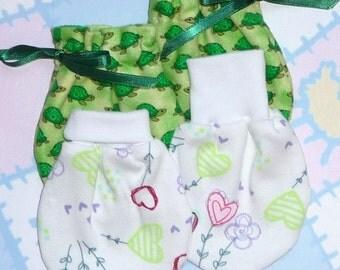 Wind Song, No Scratch BABY MITTENS Pattern, Preemie, Newborn, Instant Download