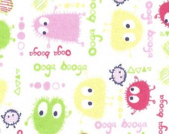 PASTEL Ooga Booga, Cotton Interlock Knit Fabric, FQ 18 x 29