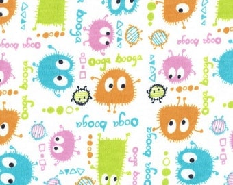 SPRiNG OoGa BooGa, Cotton Interlock Knit, by the yard