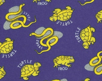 FRoGS, TuRTLeS & SNaKeS, Cotton Baby Rib Knit Fabric, by the yard
