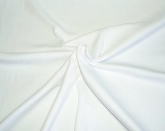 WHITE COTTON INTERLOCK Knit Fabric Fat Quarter 18 x 29 Inches