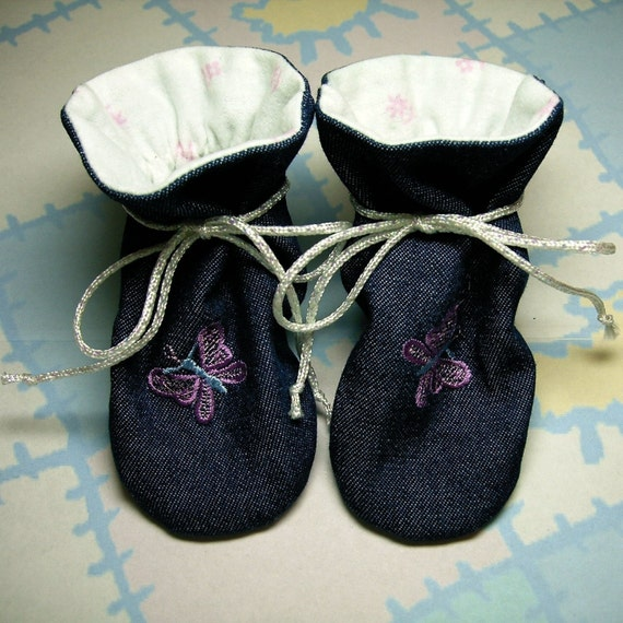 """Terra Verde, """"TV"""" Baby Bootie Bootee PDF Sewing Pattern, Includes 5 sizes Preemie to 12 months, Instant Download"""