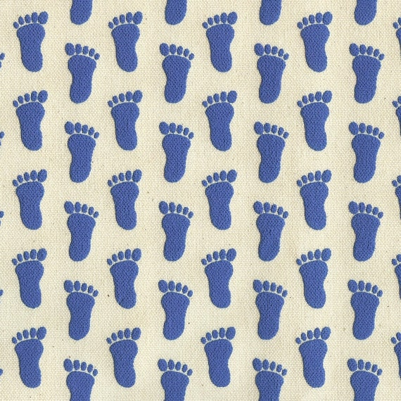 ROYAL BLUE Slipper Grippers Non-Slip Anti-Skid Slip Resistant Canvas Fabric, Footprints