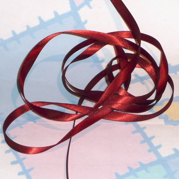 COPPER DouBLe FaCeD SaTiN RiBBoN, Polyester 1/4 inch wide, 5 Yards