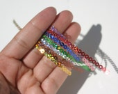FREE SHIPPING Holographic Sequin Chain