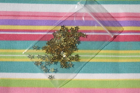 FREE SHIPPING Gold foil mini stars