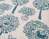 Orchard hemp/cotton fabric in Teal