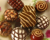 8pcs - Box of Chocolate Collection  Charms