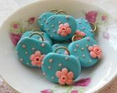 Victorian Collection - 4pcs Miniature Bag Charms - Blue