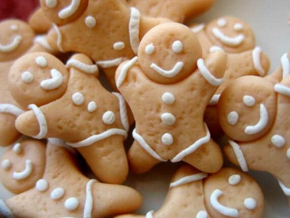6pcs Gingerbread Cabochon