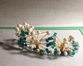Tiara - Pearls and Swarovski Crystal Handmade