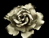 Lisner Silvertone Rose Brooch - 1960s Vintage