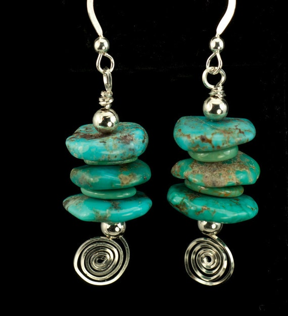 Turquoise Rocaille Earrings