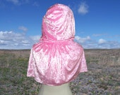 Cloak Capelet Cape Wedding Renaissance Prom Shrug Pink Velvet Halloween