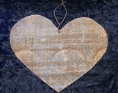 Heart Antique Tin Upcycled From Barn Roof Valentine's Day Wedding