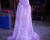 Reversible Velvet Cloak - Custom Made - You pick the Colors