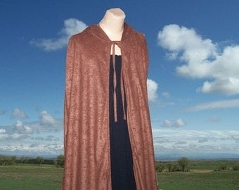 Brown Cloak Cape Faux Suede Renaissance Gothic Medieval Halloween Costume