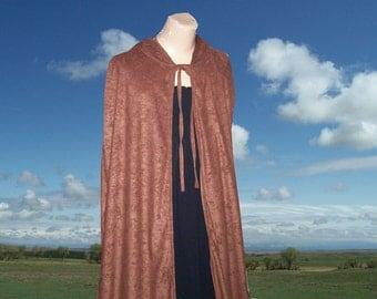 Brown Cloak Cape Faux Suede Renaissance Gothic Medieval Halloween Costume