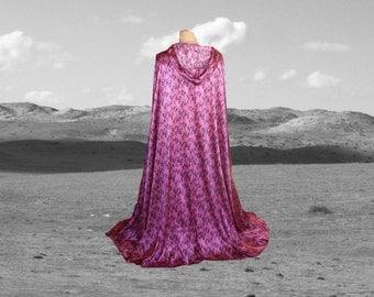 Pink Snakeskin Cloak Cape  Renaissance Prom Halloween Costume