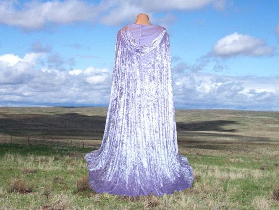 Cloak Cape Lavender Velvet Hooded Wedding Purple Harry Potter Halloween