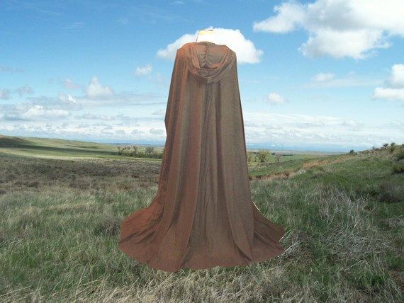 Cloak Cape Hooded Brown Harry Potter Halloween Costume Faux Suede Hooded Renaissance Costume