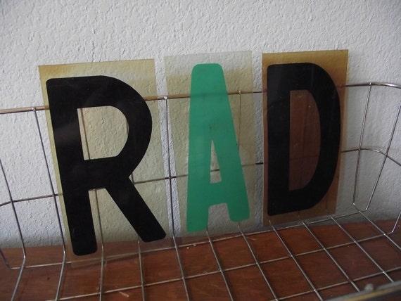 RAD - Literally - Vintage Sign Letters