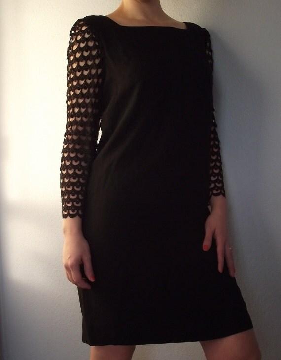 Vintage Black Twiggy Party Dress