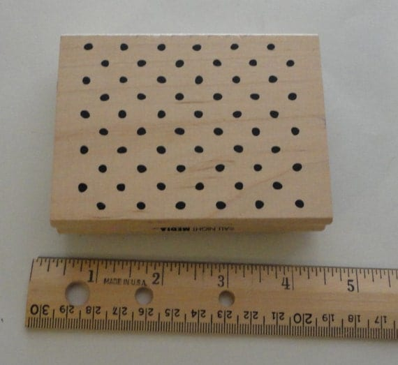 Rubber stamp dot pattern