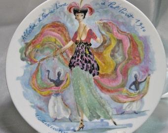 VINTAGE Porcelain Limoges Haute Vienne Plate 1976 by Fr. Ganeau BW901