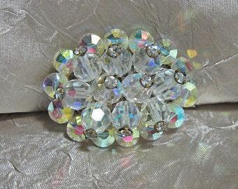 Vintage Crystal Rhinestone Brooch Exquisite