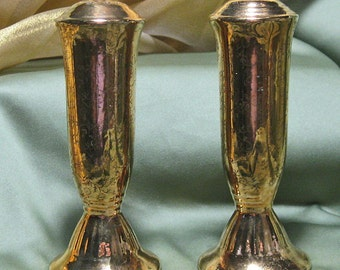 Vintage Gold Overlay Salt and Pepper Shakers 1950s
